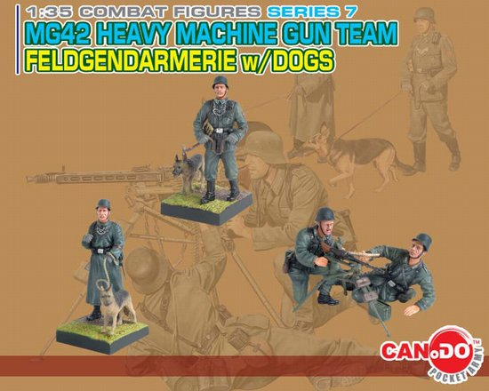 Feldgendarmerie w/Dogs & MG42 Heavy MG Team
