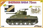 Sherman M4A4 75mm with DS Track and US Tank Crew, NW Europe Figures Set - Orange Series