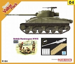Firefly Ic, Hybrid Hull w/ Anti-Aircraft MG , British Figure Set & DS Track  - Orange Series