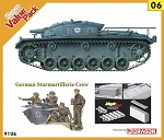 StuG III Ausf E w/ Valued Added , Bonus German Figure Set  - Orange Series