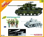 Sherman Vc Firefly w/ British Paratroopers Figure Set - Orange Series
