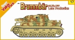 Sd Kfz 166 Late Production Brummbär w/ German Figure Set  - Orange Series