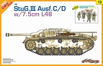 StuG III Ausf C/D w/7.5cm L48 w/ German Figure Set  - Orange Series