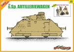 Sp Artilleriewagen w/Waffen Tank Crew Figure Set  - Orange Series