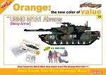 USMC M1A1 Abrams (Heavy Armor) w/ US Tank Crew Figure Set - Orange Series