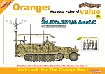 Sd Kfz 251/6 Ausf C Command Vehicle w/ German Command Staff Figure Set - Orange Series
