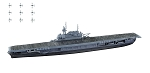 F- Toys 1:2000 USN Carrier Yorktown - Waterline
