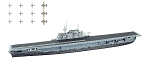 F- Toys 1:2000 USN Carrier Hornet - Waterline
