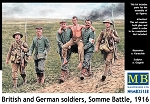 British and German Soldiers, Somme Battle 1916 - First World War Series