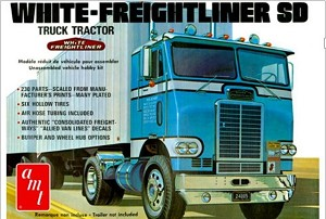 White Freightliner Single Drive Cabover