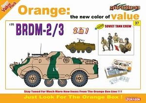BRDM-2/3 (2 in 1) w/ Soviet Tank Crew Figure Set - Orange Series