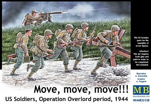 Move, Move, Move!!! - US Soldiers, Operation Overlord, 1944