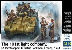 The 101st Light Company - US Paratroopers & British Tankman, France 1944