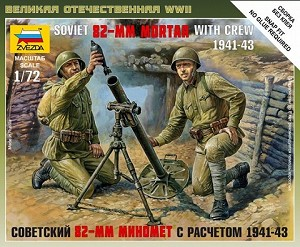 Soviet 82mm Mortar with Crew ~ Snap Kit